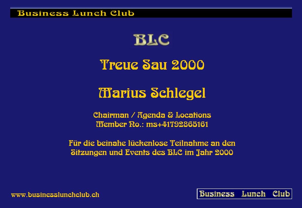 Treue Sau 2000 Marius