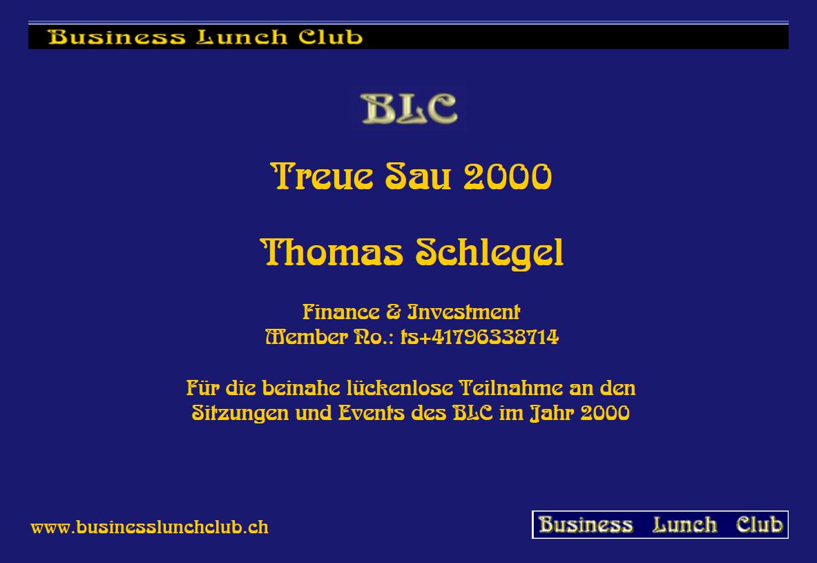 Treue Sau 2000 Thomas