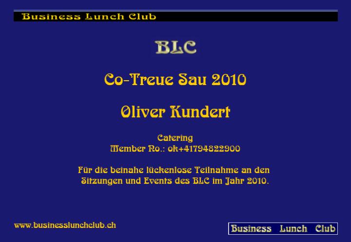 Co-Treue Sau 2010 Oli
