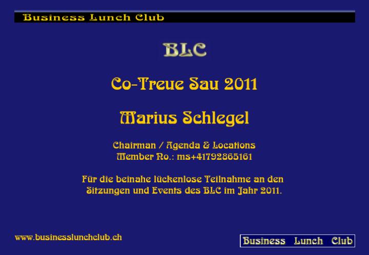 Co-Treue Sau 2011 Marius