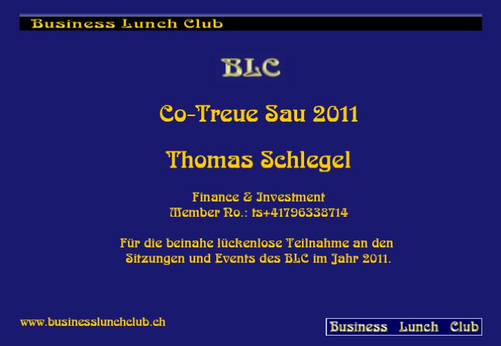 Co-Treue Sau 2011 Thöm