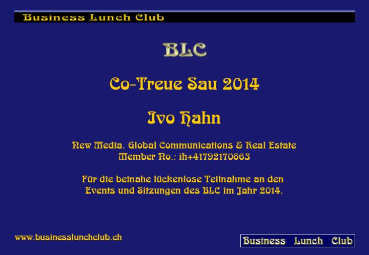 Co-Treue Sau 2014 Ivo