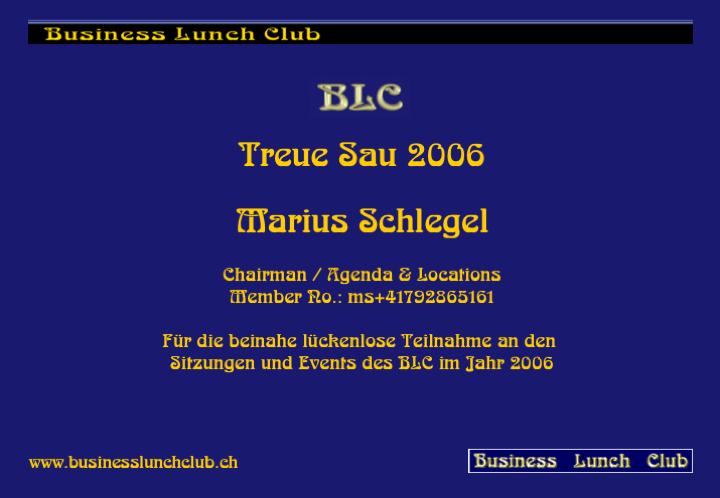 Treue Sau 2006 Marius