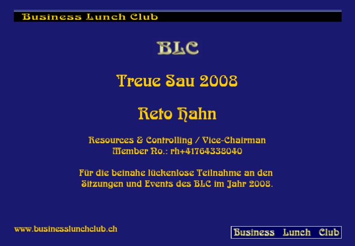 Treue Sau 2008 Reto