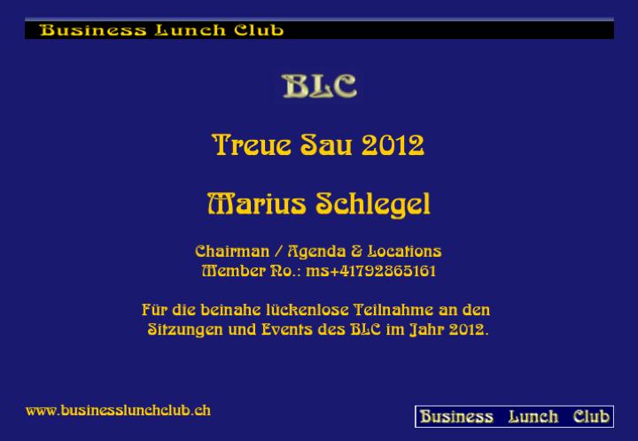 Treue Sau 2012 Marius