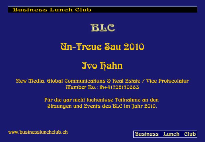 Un-Treue Sau 2010 Ibo